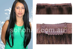 SOHO CLIP-ON EXTENSION HUMAN HAIR STRAIGHT DARK