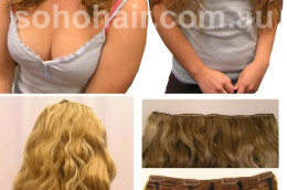SOHO CLIP-ON EXTENSION HUMAN HAIR WAVY MIX