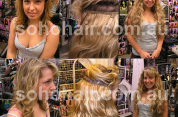 SOHO CLIP-ON EXTENSION HUMAN HAIR WAVY smp