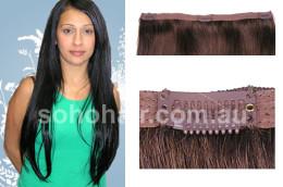 SOHO CLIP-ON EXTENSION HUMAN HAIR STRAIGHT DARK