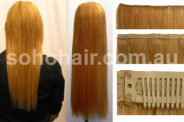 SOHO CLIP-ON EXTENSION HUMAN HAIR STRAIGHT MIX