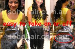 SOHO CLIP-ON EXTENSION HUMAN HAIR WAVY Black smp